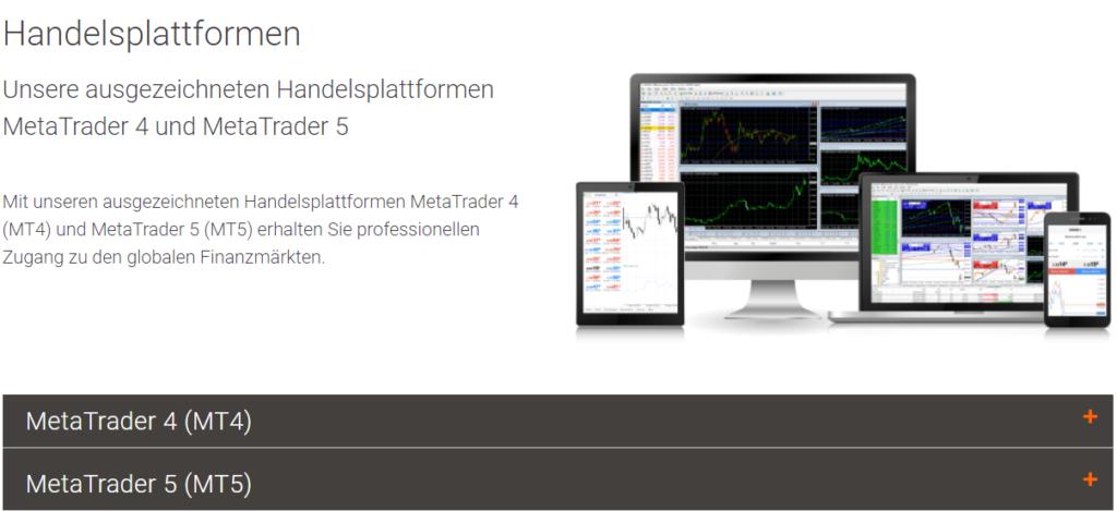 GBE Brokers Handelsplattformen
