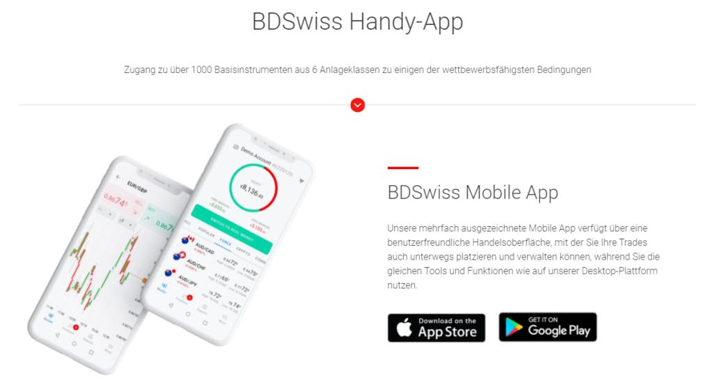 BDSwiss Handy-App