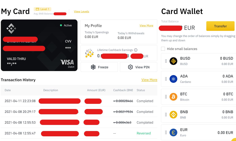 Binance Kreditkarte
