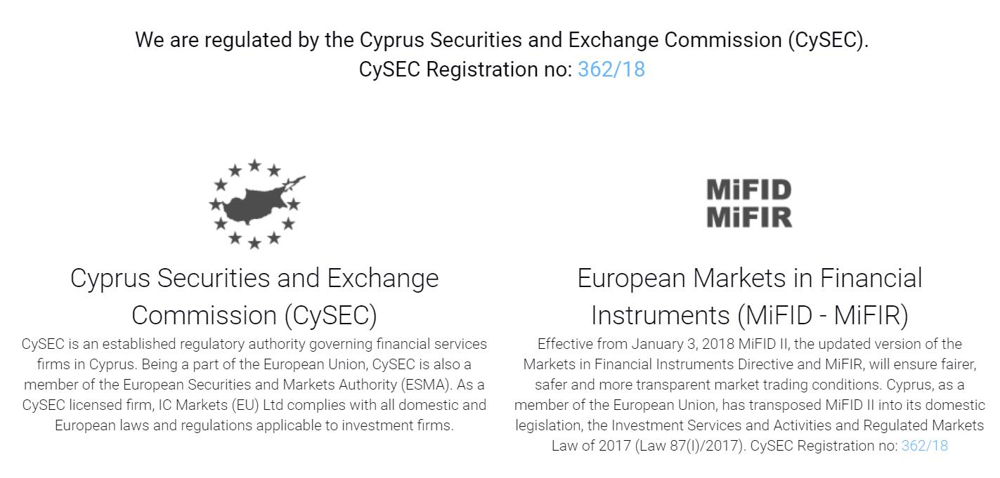 IC Markets Regulierung