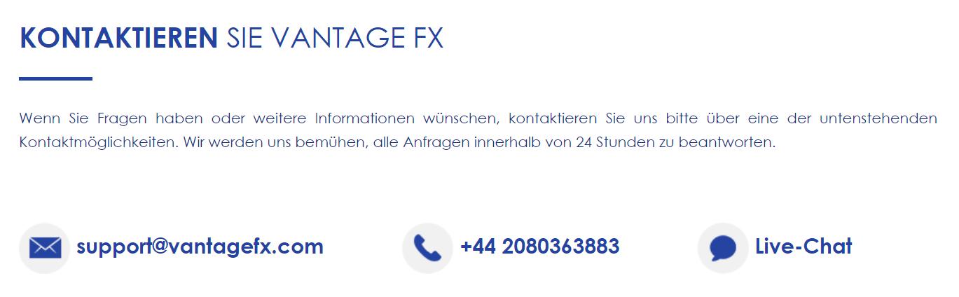 Vantage FX Support