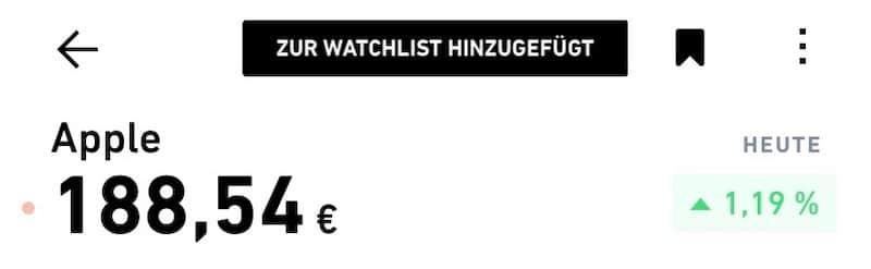 Trade Republic Watchlist