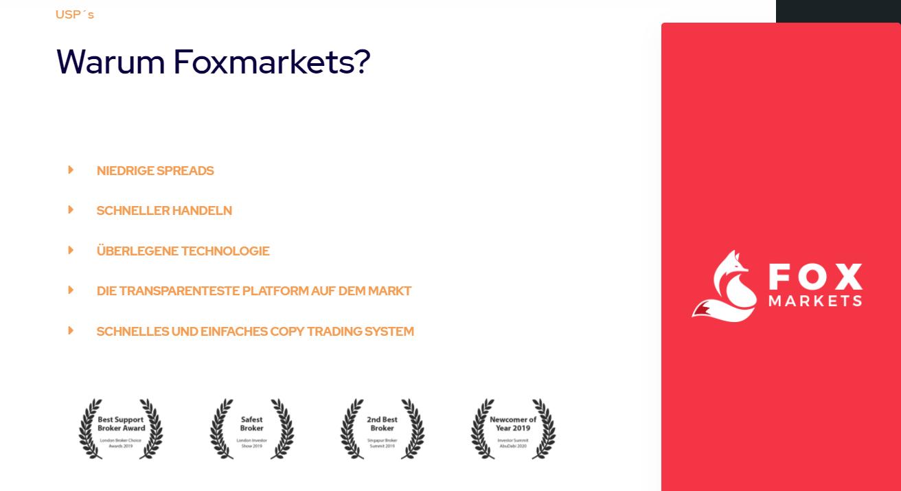 Fox Markets Auszeichnungen