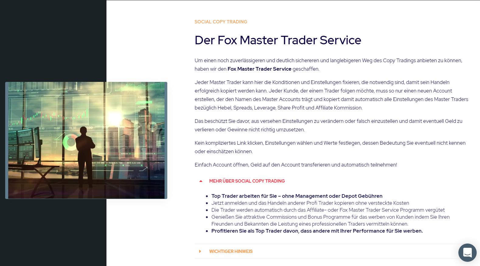 Fox Markets Social Trading